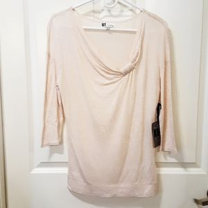 NWT Kut from the Kloth Twist-front Knit Top